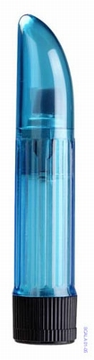 Vibrator - Crystal Clear Lady Finger, blauw